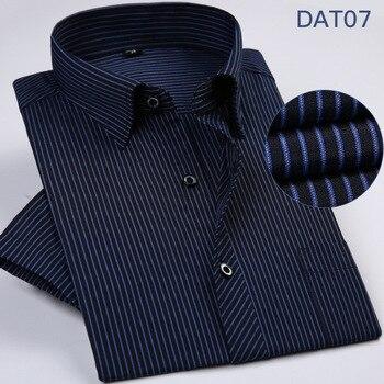 ea17c3606757cc4 Product Offer. Shou среднего возраста полосатая рубашка с короткими  рукавами мужская летняя новая тонкая мужская повседневная ...