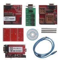 DHL Бесплатная UUSP УПА USB Serial Программист Полный посылка V1.3 красный широкий с полной Адаптеры ECU Чип tunning