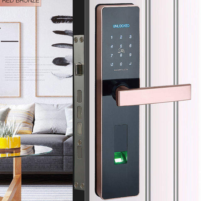 Fingerprint Door lock,Waterproof Bluetooth Electronic Door Lock Intelligent App Biometric Door Lock Smart Wifi Fingerprint Lock