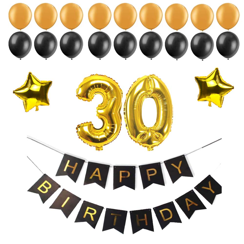 40 50 60 30 Years Old Happy Birthday Paper Bunting Banner