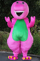Barney Cartoon Mascot costumes on Adult Size Barney Mascot costume+Free Shipping