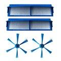 Seite Pinsel + Filter Mesh Set Für Philips FC8007 FC8792 FC8794 FC8796 Vakuum Reinigen Reinigungsbürsten    -