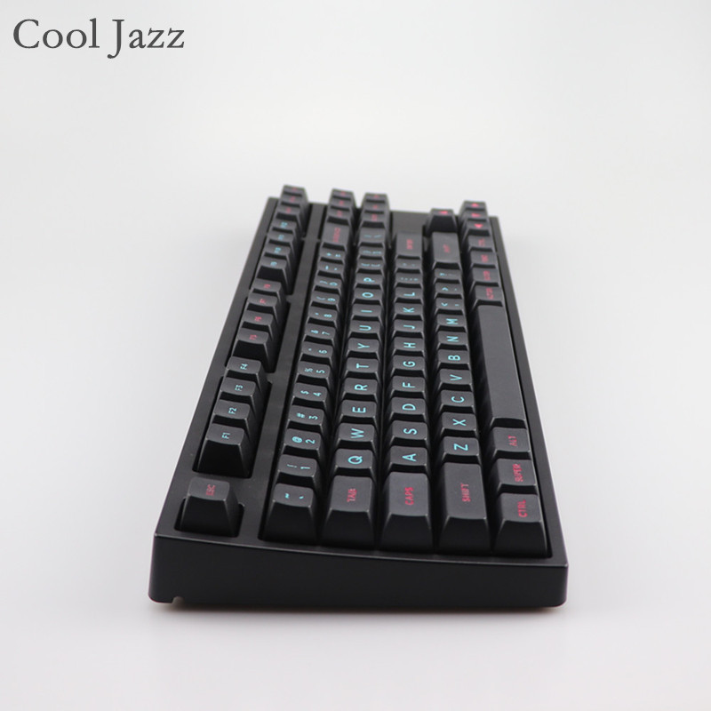 Cool Jazz Miami Etched Coloring fonts SA PBT keycap for Cherry mx mechanical keyboard iso keycaps