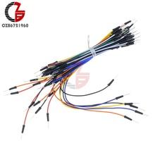 2 упаковки 130 шт. от мужчины до мужчины Solderless гибкий Макет соединительный кабель Провода