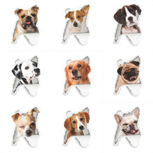 3D vivid Dog Wall Stickers For Toilet Bathroom Kids Rooms PVC Home Decor Wall Refrigerator Computer Car Mural Art Decals