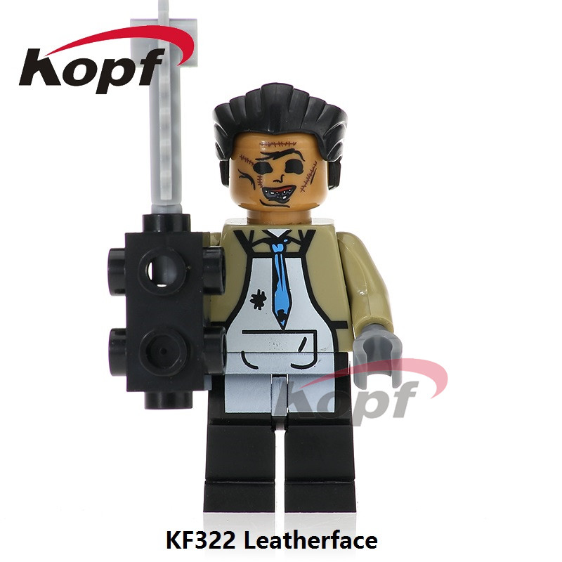 Single Sale The Horror Theme Movie Leatherface Jeepers Creepers Billy Pincushion Bricks Building Blocks Toys for children KF322 the horror theme movie michael myers candyman hannibal corderlia buffy the vampire slayer series building blocks kids toys kf195