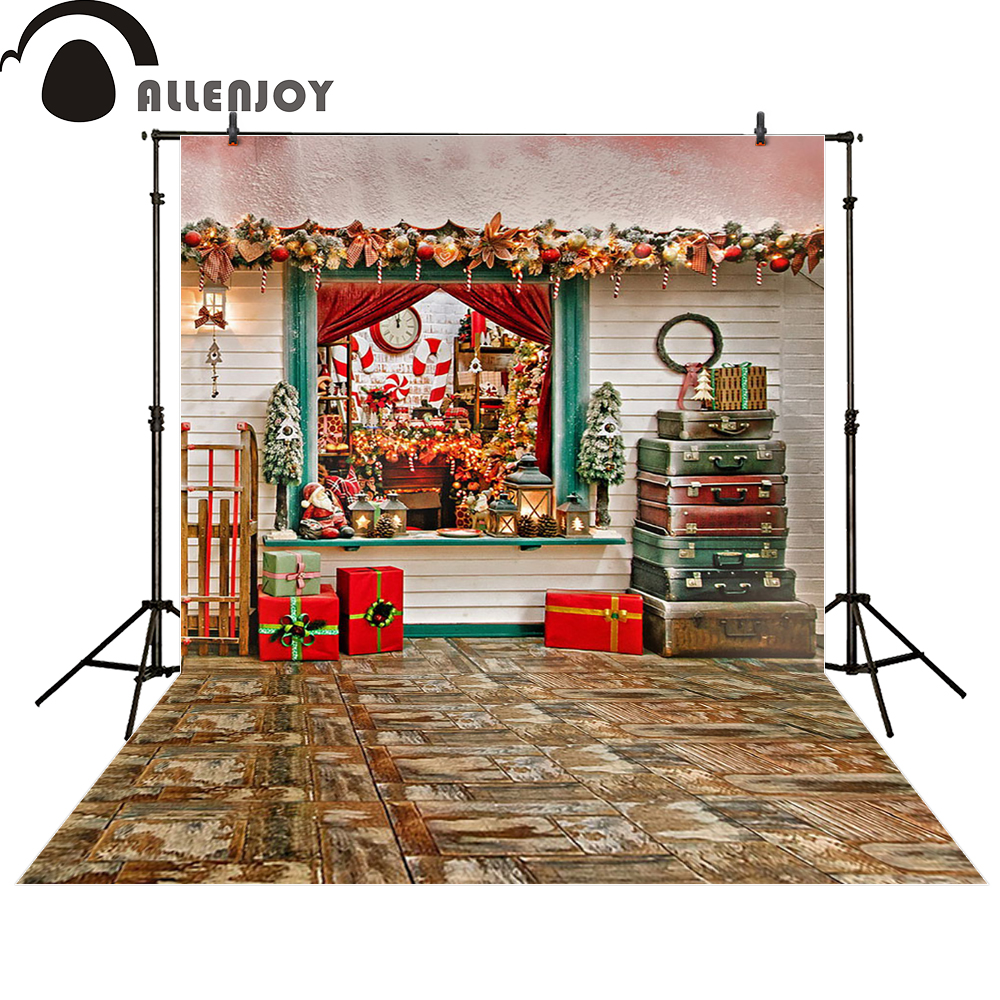 Allenjoy photo backdrops Christmas red gift window baby shower photocall photographic photo studio photobooth fantasy allenjoy photography backdrops library bookshelf school student study room books photocall baby shower