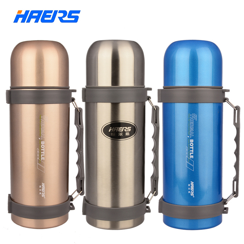 Haers Double Stainless Steel Vacuum Flasks Big Capacity for Outdoor Sports Drinkware HY 1000W 2