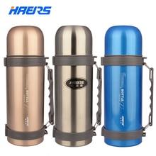 Haers doppel edelstahl isolierflaschen große kapazität für outdoor-sportarten drink hy-1000w-2
