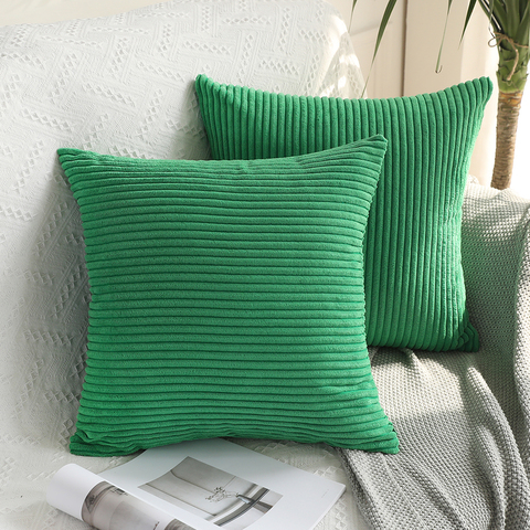 Soft Soild Decorative Square Throw Pillow Covers Set Cushion Cases Comfortable Corduroy Pillowcases for Sofa Bedroom Car Multan