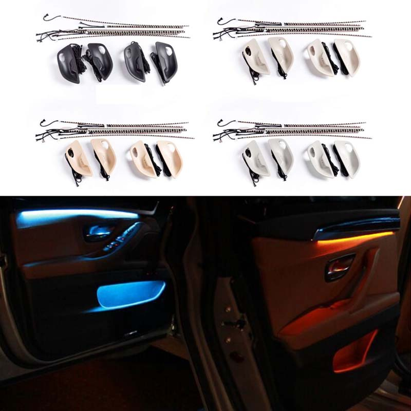 Car Interior Decorative Led Ambient Door Light Stripes Atmosphere Light With 2 Colors For BMW 5