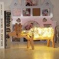 3D Иллюзия Дерева Стекла Оленей Свет Шнура СИД Night Light СВЕТОДИОДНЫЕ Настольные Лампы Главная Стол Декор Номеров Для Друзей и Детей подарок