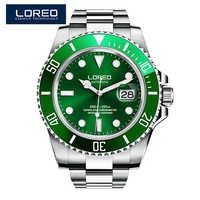 Relojes Hombre LOREO zegarek mężczyźni Sport automatyczny zegar mechaniczny męskie zegarki Top marka luksusowy wodoodporny 200m zegarek Dropshipping