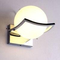Milky Ball Led Wall Lamp Modern Glass Ball Wall Light for Kitchen/Bedroom/Living room E27 Wall Luminaire Led Light applique mura