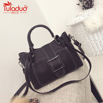Fashion Brand Pu Leather Bag Women Luxury Handbags Women Bags Designer Shoulder Bags High Quality Thread Ladies Tote Bag 2018 leather