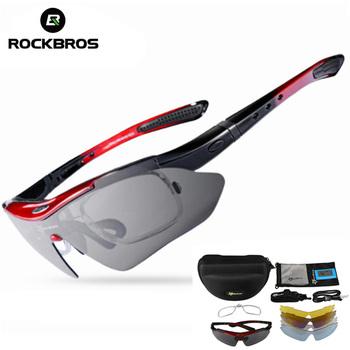 ROCKBROS okulary rowerowe rama spolaryzowane okulary piesze wycieczki bieganie wędkowanie rama krótkowzroczność wewnętrzne ramki okulary Gafas Ciclismo tanie i dobre opinie UV400 4 1 cm DT725 MULTI 6 1 cm Poliwęglan Unisex Octan Jazda na rowerze Item only include the glasses frame Photochromic Glasses not Polarized