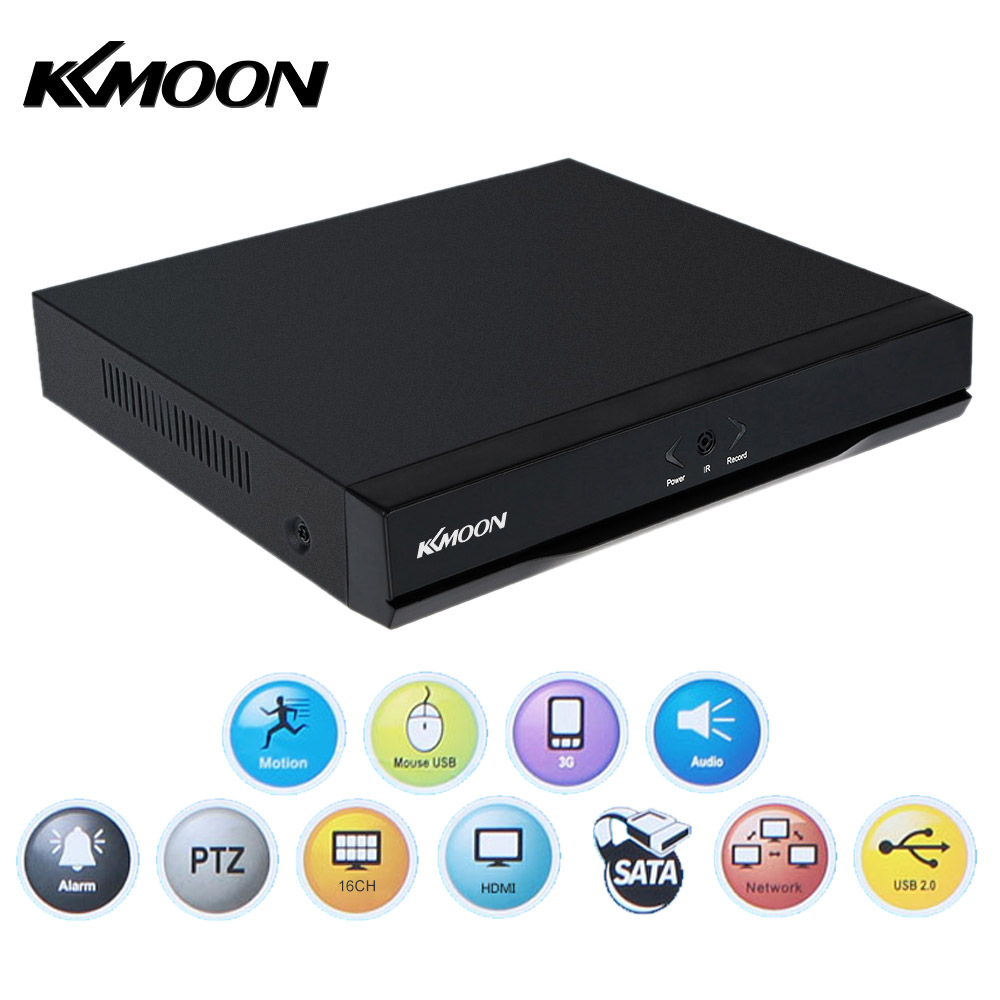 KKmoon 16CH 1080P Hybrid 5 in1 Digital Video Recorder support Plug and Play Phone APP Free CMS Browser View Motion Detection PTZ image