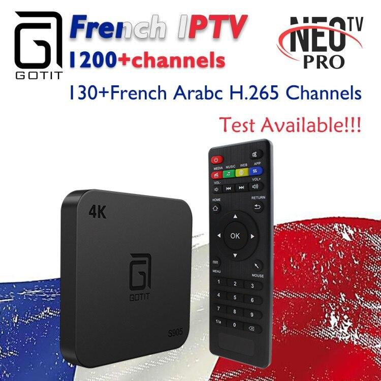 Französisch IPTV GOTiT S905 4K Smart Android 7.1 TV box 1000 + NEOTV H.625 4K IPTV Arabisch Tunesien Marokko belgien PayTV & VOD-in Digitalempfänger aus Verbraucherelektronik bei AliExpress - 11.11_Doppel-11Tag der Singles 1
