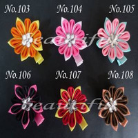 100 pcs BLESSING Good Latest Vogue Various Style 2.25 2.75 E Flower hair accessories Bow 218