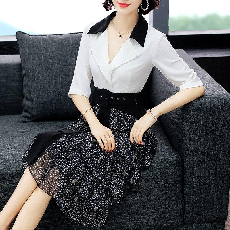 Online Einkaufen Frauen Elegante Büro Kleid Drucken OL