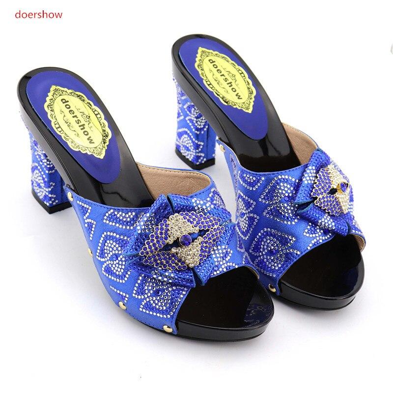 Strass Op1 Nouveau Haute Femme Ensemble Fête Italien Doershow Sac Et Noir Pantoufle La 7 Chaussures Afrique Talons Pour Blackstyle Sacs XiuOkZP