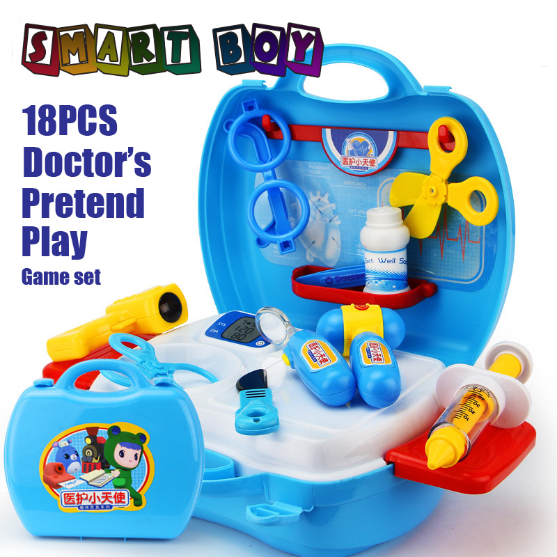 Pretend Play Doctor Medical Kit Box Learning&Education Children toys DIY Toy safty boys girls toy Adorable Gift Role Play game ...