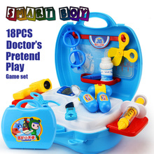 Pretend Play Doctor Medical Kit Box Learning&Education Children toys DIY Toy safty boys girls toy Adorable Gift Role Play  game