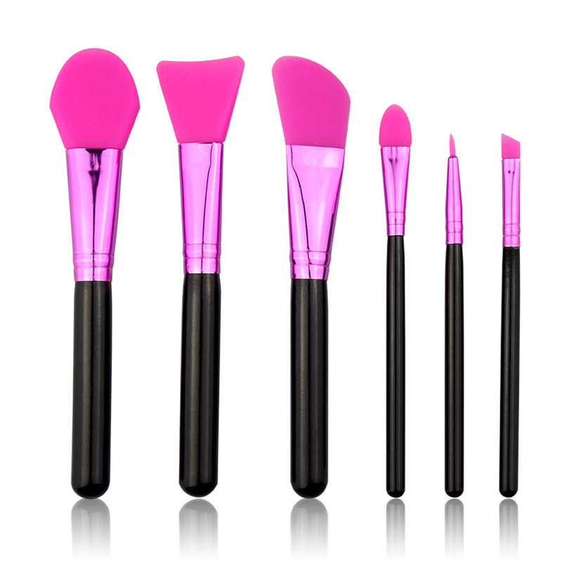 Makeup-Brushes Eyeshadow Silicone Concealer Mask Foundation Eyebrow Professional 6pcs