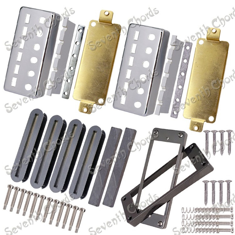 A Set Chrome Mini 6 String Guitar Humbucker Pickup Kits Producing Accessories Brass Cover and Baseplate and Plastic Pickup Ring interactions between siderophore producing microorganisms