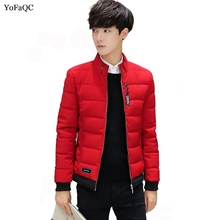 YoFaQC 2018 Winter Jacket Men Outerwear Padded Warm Thicken Short Jacket Coat Stand Collar Male Solid Parkas Coat Size 4XL