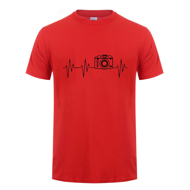 Heartbeat Of Camera T Shirt Funny Birthday Gifts Idea For Photographer Dad Father Husband Boy Friend Brother Men Cotton In Shirts From Mens
