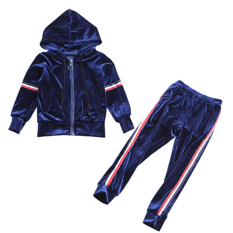 Autumn teenage girls clothing set zipper velvet sports suit for girls clothes kids sport suit baby girls clothes 2018 wholesale kids clothing 2018 toddler girls summer clothing beach mermaid swimsuit teenage girls clothes for 10 years bikini suit