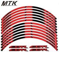 MTKRACING 4 Color FIT HONDA CBR General Purpose Motorcycle Wheel Decals Reflective Stickers Rim Stripes CBR