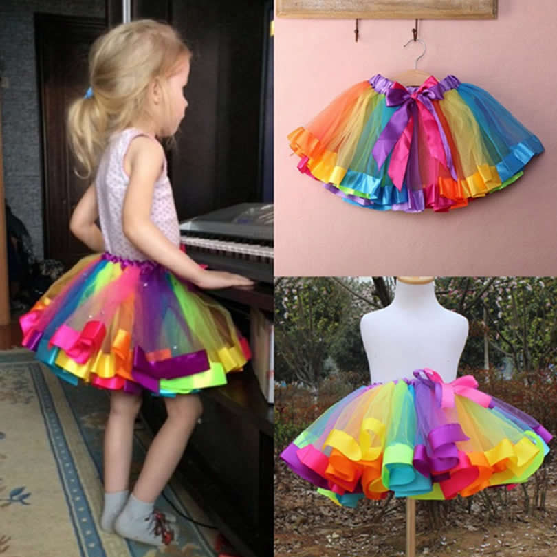 Children Infant Skirts Girls Lace Silk Yarn Bow Tie Saia