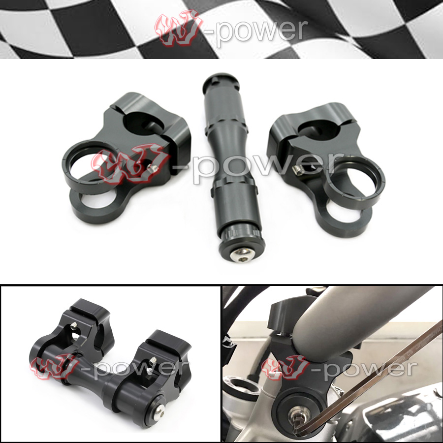 Motorcycle Handlebar Riser Handle Bar Clamp For BMW R1200GS LC 13-17/ R1200GS LC Adventure 14-17 handlebar riser handle bar clamp extend adapter for bmw r1200gs lc r 1200gs adv 2013 2018 14 15 16 17 motorcycle accessories
