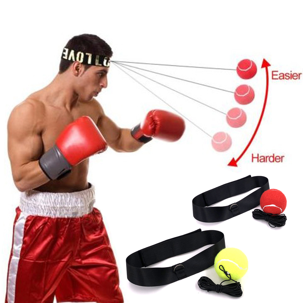 Elasticity Head Band Wearing Boxing Equipment Fight Ball Training Speed Ball Muay Thai Trainer Quick Punching Top Quality