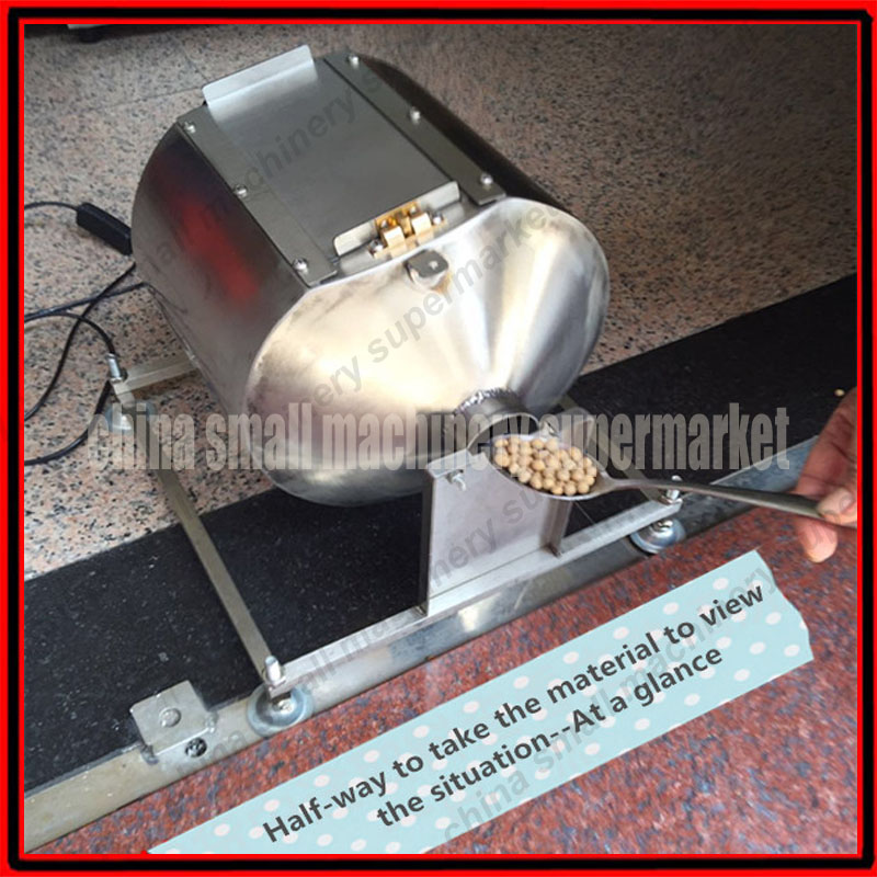 High quality Automatic rotation 9L stainless steel coffee roaster machine Roasting machine used for Coffee bean coco Soybeans(China)