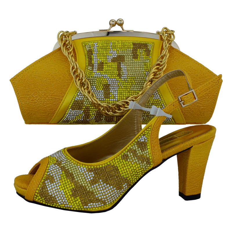 SB8075 FREE SHIPPING YELLOW ITALIAN NEWEST DESIGNS SHOES AND BAG MATCHING SET FOR AFRICAN LACE FABRIC DRESS PARTY SIZE 38 TO 43SB8075 FREE SHIPPING YELLOW ITALIAN NEWEST DESIGNS SHOES AND BAG MATCHING SET FOR AFRICAN LACE FABRIC DRESS PARTY SIZE 38 TO 43