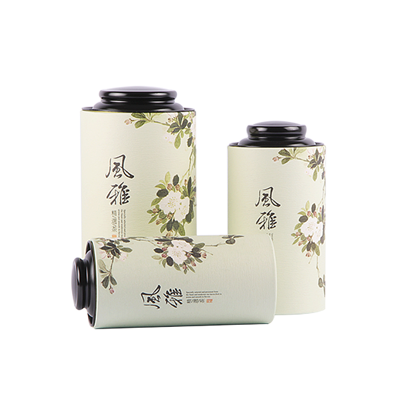 Xin Jia Yi Packaging Fruit Flower Vegetable Seed Tin Can Round Tin Can With Clear Window Paper Tin Can Screw Top Coffee Tin Can