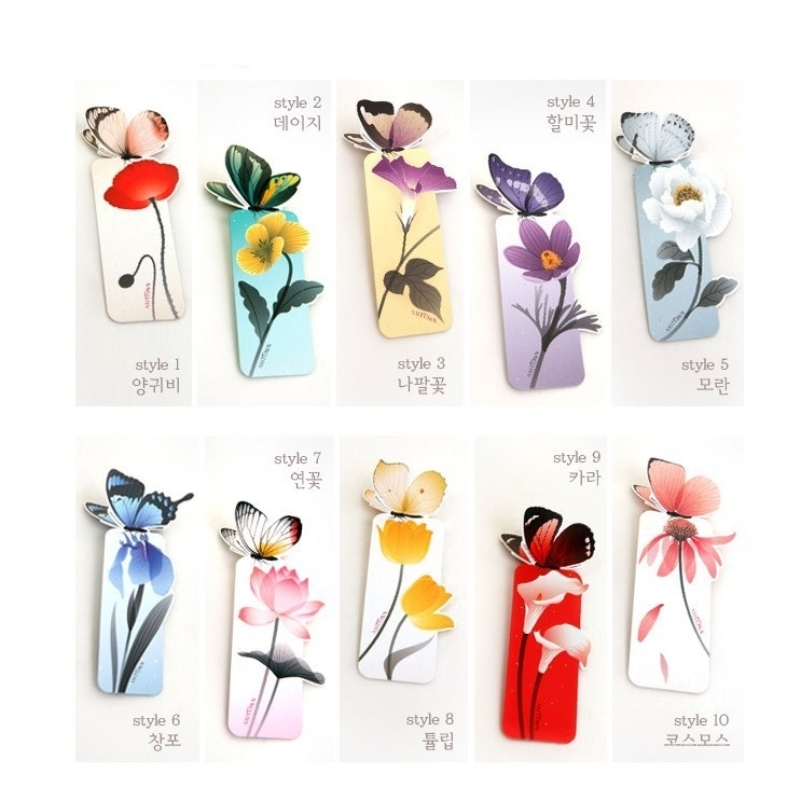 Coloffice Japanese Style Butterfly Flower Bookmark Pattern Random Color Bookmarks 5 PCs Gift Stationery School Office Suppliers