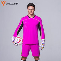 Vicleo Professional Soccer Goalkeeper Jerseys Sets Long Sleeve T Shirt Shorts Doorkeepers Survetement Football Suit 16Z06001