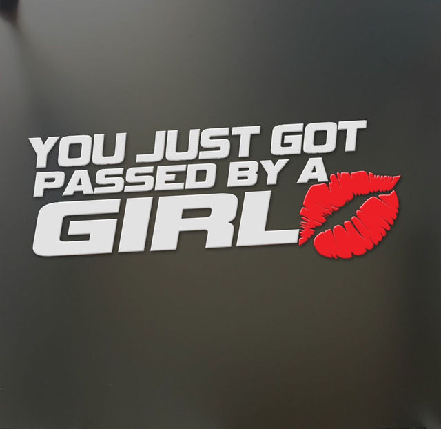 Girl Car Stickers For Windows