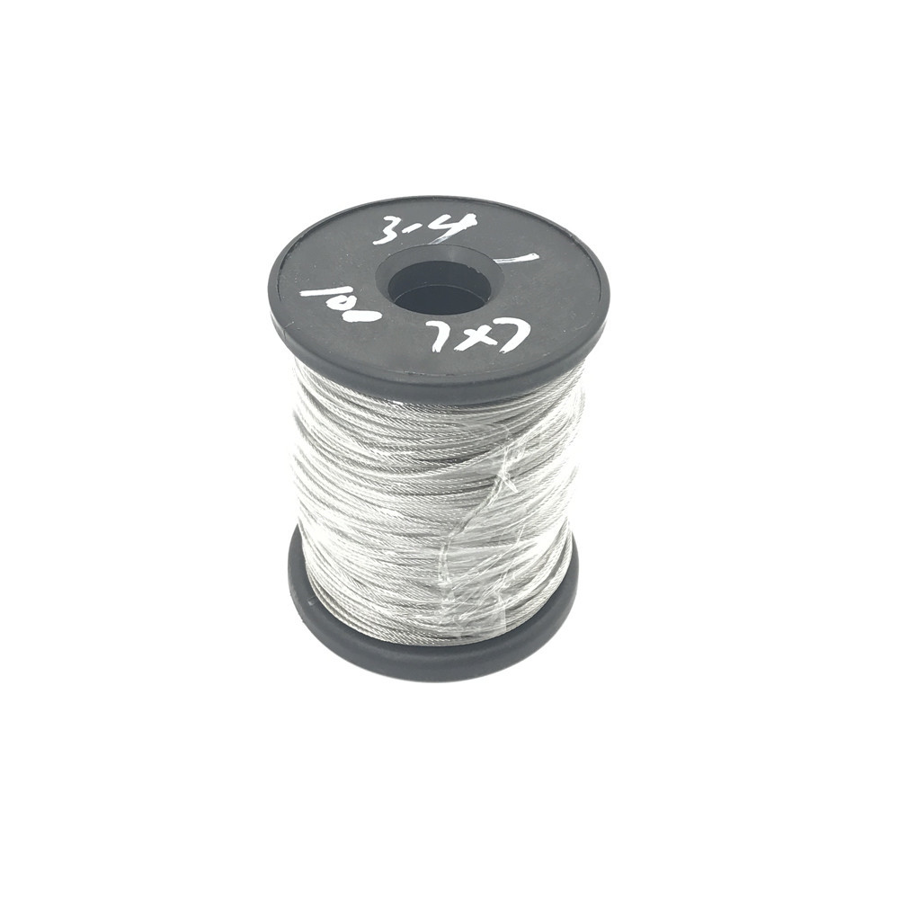 100m/lot 1mm High Stainless Steel Wire Rope Tensile Diameter 7X7 Structure Cable Gray 3mm 7 7 stainless steel 316 wire rope 7x7 strand core seaworthy marine grade