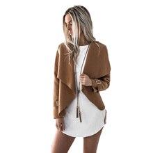 New Lady Autumn Winter Women Wide Lapel Outwear Warm Coats Women European Style Short Ladies Parka Overcoats