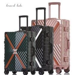 """Viaggi racconto di Alta qualità usura-resistenza di nuovo modo Rotolamento Bagagli Spinner brand Travel Valigia 20 """"/24""""/26 """"/28"""""""