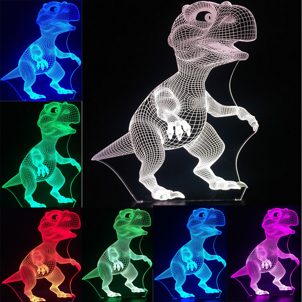 New 2017 lava Baby Led Lamp Dinosaur 7 Color change bulb decoration Kid gift Night Light Sleeping Holiday Lighting Boys Gifts mipow btl300 creative led light bluetooth aromatherapy flameless candle voice control lamp holiday party decoration gift