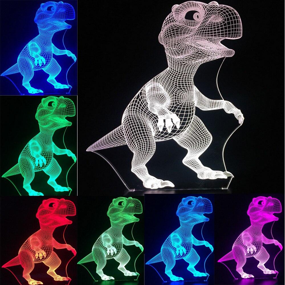 Luzes da Noite novo 2017 bebê dinossauro lâmpada Formato : Animal