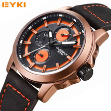 2016 New Fashion Quartz Watch Men Water Resistant Calendar Sports Casual EYKI Top Brand Luxury Role Men Watches
