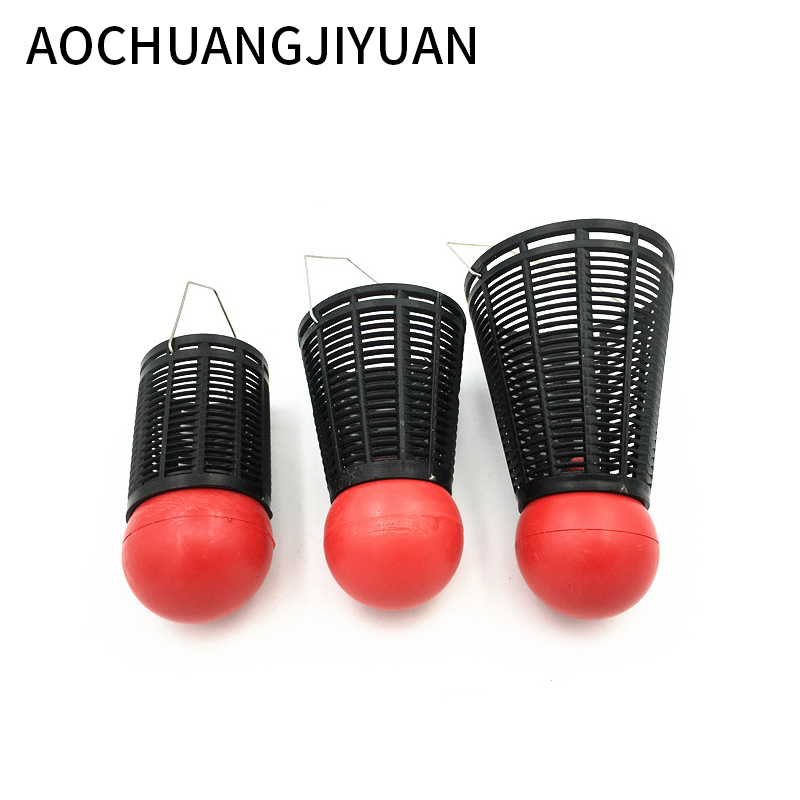 Small Bait Cage Fishing Trap Basket Feeder Holder Stainless Steel Wire Fishing Lure Cage Fish Bait Fishing Accessories Tackle yamaha pneumatic cl 16mm feeder kw1 m3200 10x feeder for smt chip mounter pick and place machine spare parts