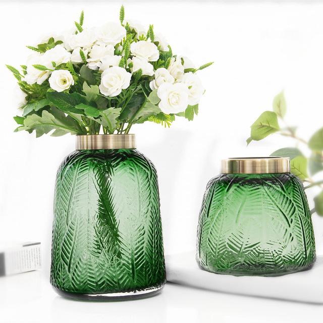 Groene Glazen Vaas.Goedkope Verkoop 2 Pack Nordic Vaas Eenvoudige Groene